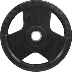 15kg obciążenie olimpijskie w gumie Stayer Sport NRB