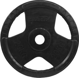 20kg obciążenie olimpijskie w gumie Stayer Sport NRB